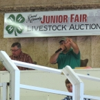 Jake Auctioning The Grant County Fair Junior Livestock Auction